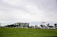 BRASÍLIA, DF, 07.03.2016 - CLIMA-DF - Esplanada dos Ministérios na Área central de Brasília após forte chuva na tarde desta segunda-feira, 07. (Foto: Ricardo Botelho/Brazil Photo Press)