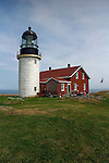 Seguin Island Light, built in 1795 and rebuilt in 1887, Georgetown, Sagadahoc County, Maine, USA.