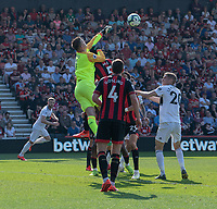 Bournemouth's Artur Boruc punches the ball clear<br /> <br /> Photographer David Horton/CameraSport<br /> <br /> The Premier League - Bournemouth v Fulham - Saturday 20th April 2019 - Vitality Stadium - Bournemouth<br /> <br /> World Copyright © 2019 CameraSport. All rights reserved. 43 Linden Ave. Countesthorpe. Leicester. England. LE8 5PG - Tel: +44 (0) 116 277 4147 - admin@camerasport.com - www.camerasport.com