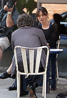 "July 09, 2012  Mark Ruffalo and Keira Knightley shooting on location for the new VH-1 film, ""Can a Song Save Your Life ?"" in New York City. © RW/MediaPunch Inc."