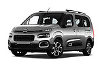 Stock pictures of low aggressive front three quarter view of a 2019 Citroen Berlingo Shine 5 Door MPV