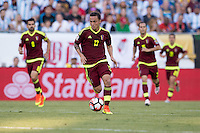Foxborough, MA - Saturday June 18, 2016: Luis Seijas during a Copa America Centenario quarterfinal match between Argentina (ARG) and Venezuela (VEN)  at Gillette Stadium.