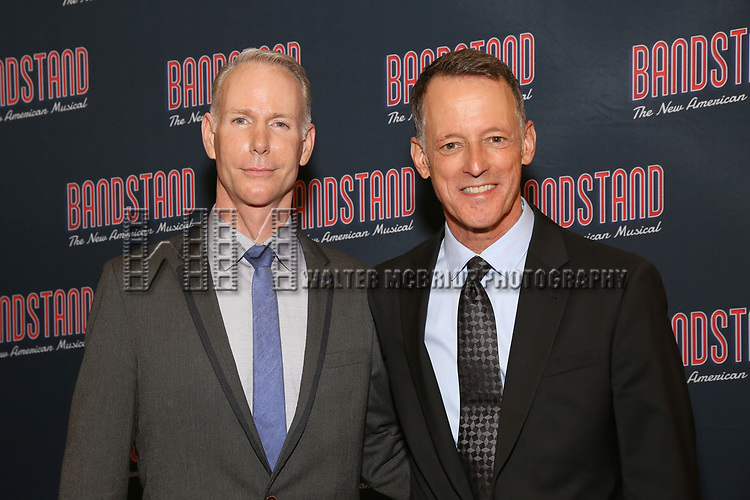 Richard Oberacker and Robert Taylor attends the Broadway Opening Night After Party of 'Bandstand' at the Edison Ballroom on 4/26/2017 in New York City.