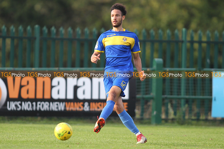 Nathan Okoye of Romford during Romford vs Coggeshall Town, Bostik League Division 1 North Football at Rookery Hill on 13th October 2018