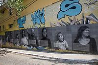 SÃO PAULO, SP 18.09.2019: VILA MARIANA-SP - Cartazes são vistos na Rua Fabrício Vampré, na manha desta quarta feira (18), em protesto organizado pelo coletivo Chácara das Jaboticabeiras, que é formado por moradores da Vila Mariana, que lutam pela preservação do bairro. Neste perímetro, encontram-se os sobrados de 1930 em processo de tombamento, que pertencem à Ordem Imaculada Conceição, e ficam nas esquinas das ruas Conselheiro Rodrigues Alves e Fabrício Vampré. (Foto: Ale Frata/Código19)