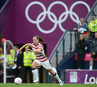 Glasgow, Scotland - Saturday, July 28, 2012:  Lauren Cheney of the USA Women's soccer team during a 3-0 win over Colombia in the first round of the Olympic football tournament at Hamden Park.