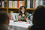 CORAL GABLES, FL - MARCH 14: Author Elaine King in conversation with Armando Lucas Correa and sign copies of her books 'Parejas felices, cuentas en orden: 5 pasos para tu armonia financiera'  at Books and Books on March 14, 2018 in Coral Gables, Florida. Florida.  ( Photo by Johnny Louis / jlnphotography.com )