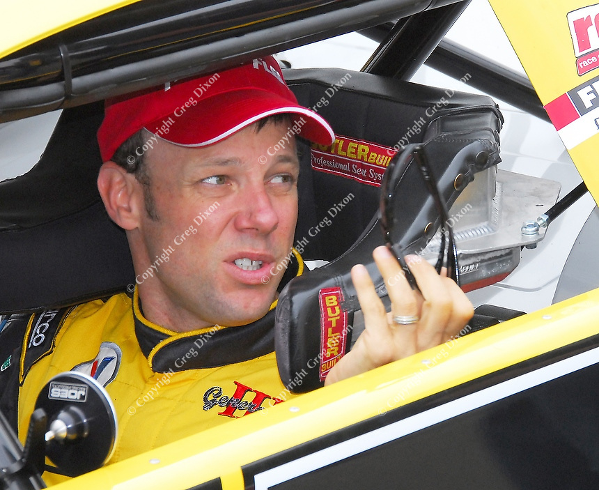 Matt Kenseth gears up for his race in Tuesday night's All-Star Challenge at Madison International Speedway in Oregon, Wisconsin on June 30, 2009