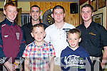 COMPETITION: Watching the Mchales Dart Competition at McHales Stretford End Bar & Restaurant, on Saturday evening. Front l-r: Ronan lacey and Evan lacey> Back l-r: Brendan Barrett, Sean Donnellan,Eric Mchale and Kieran O'Halloran.