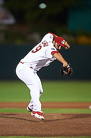 Springfield Cardinals pitcher Iden Nazario (39) delivers a pitch during a game against the Frisco RoughRiders  on June 4, 2015 at Hammons Field in Springfield, Missouri.  Frisco defeated Springfield 8-7.  (Mike Janes/Four Seam Images)