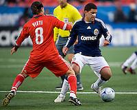22 April 2009: Chivas USA forward Alecko Eskandarian #7and Toronto FC forward Pablo Vitti #8 in action at BMO Field in Toronto in a MLS game between Chivas USA and Toronto FC..Toronto FC won 1-0.