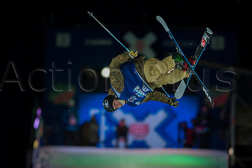 27.02.2016. Toyen, Big Jump Oslo, Norway.  Red Bull X Games Oslo 2016. Men's Ski Big Air Final. Felix Usterud of Norway in action during the Men's Ski Big Air Final at the Red Bull X Games Oslo 2016 in Toyen Big Jump  Oslo, Norway.