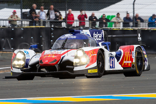 15.06.2016. Le Mans Circuit, Le Mans, France. Le Mans 24 Hours Practice and Qualifying. Greaves Motorsport Ligier JS P2-Nissan LMP2 driven by Memo Rojas, Julien Canal and Nathanel Berthon.