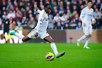 Sunday, 23 November 2012<br /> <br /> Pictured: Nathan Dyer of Swansea City<br /> <br /> Re: Barclays Premier League, Swansea City FC v Manchester United at the Liberty Stadium, south Wales.