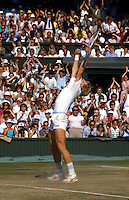 BORIS BECKER (GERMANY)<br /> WIMBLEDON 1985Boris Becker (Germ)<br /> &copy;COPYRIGHT MICHAEL COLE