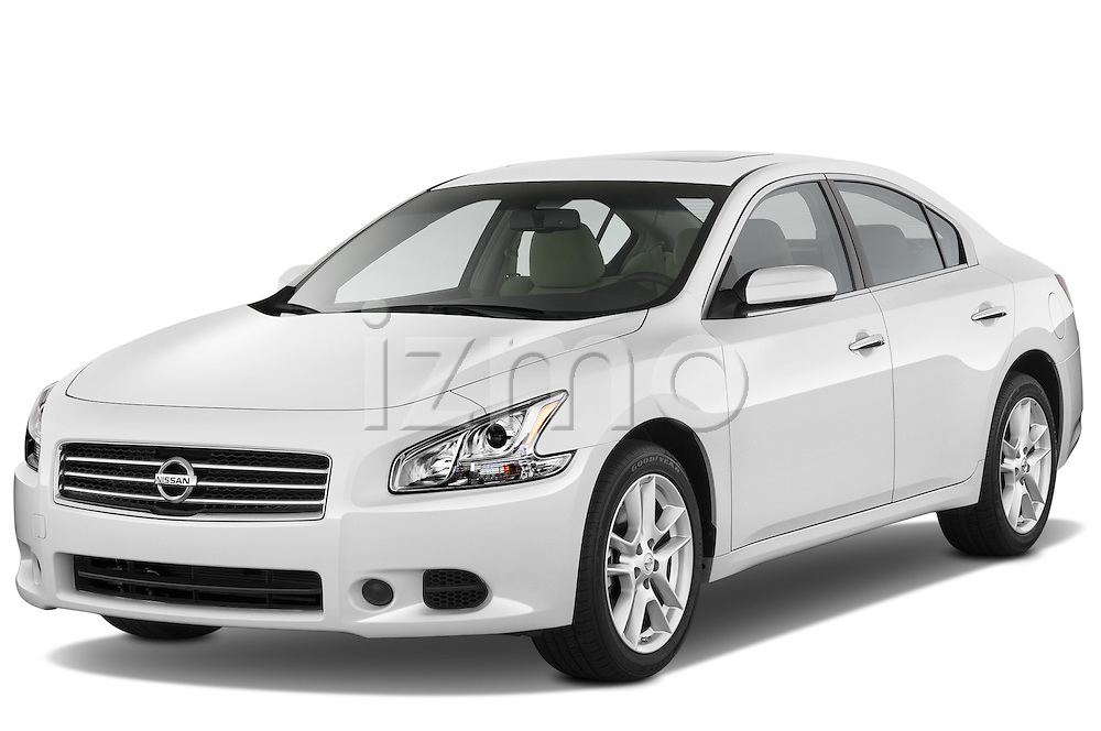 Front three quarter view of a 2012 Nissan Maxima S