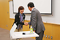 (L-R) Chiho Osawa (JPN),  Norio Sasaki (JPN), APRIL 22, 2013 : The Building up Team Japan 2013 for Sochi at Ajinomoto NTC, Tokyo, Japan. (Photo by AFLO SPORT) [1156]