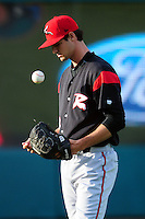 Tyler Beede (18) of the Richmond Flying Squirrels  prior to a game versus the New Hampshire Fisher Cats at Northeast Delta Dental Stadium on June 5, 2015 in Manchester, New Hampshire. (Ken Babbitt/Four Seam Images)