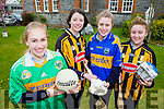 Castleisland Presentation students Carlotta Thulke, Mary O'Connor, Emer Horgan and Megan Hickey who are eagerly preparing for a visit to the school by GAA legends Henry Shefflin, Liam Sheedy and Killian Young  on the 12th May after winning a Bank of Ireland competition