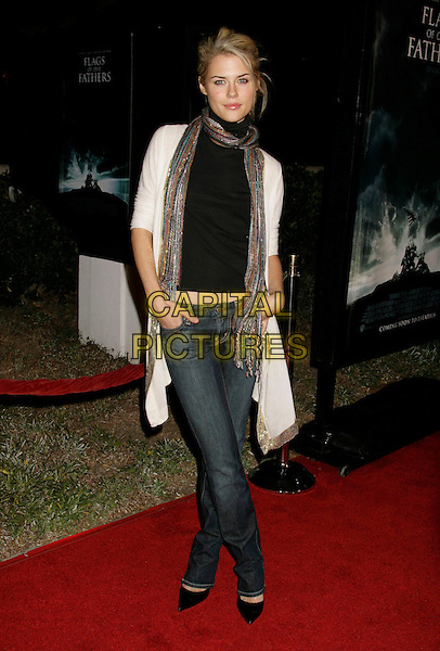 "RACHAEL TAYLOR.""Flags of Our Fathers"" Los Angeles Premiere held at the Academy of Motion Picture Arts and Sciences, Beverly Hills, California, USA, 09 October 2006..full length rachel scarf.Ref: ADM/RE.www.capitalpictures.com.sales@capitalpictures.com.©Russ Elliot/AdMedia/Capital Pictures."