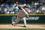 Masahiro Tanaka (Yankees),<br /> JUNE 3, 2015 - MLB :<br /> Masahiro Tanaka of the New York Yankees pitches during the Major League Baseball game against the Seattle Mariners at Safeco Field in Seattle, Washington, United States. (Photo by Thomas Anderson/AFLO) (JAPANESE NEWSPAPER OUT)