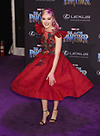 HOLLYWOOD, CA - JANUARY 29: Actor Meg Donnelly attends the premiere of Disney and Marvel's 'Black Panther' at  the Dolby Theater on January 28, 2018 in Hollywood, California.