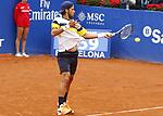 Feliciano Lopez jugando contra Albert Montañes