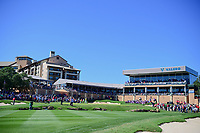 Kevin Tway (USA), Tony Finau (USA), and Bud Cauley (USA) prepare to putt on 18 during round 4 of the Valero Texas Open, AT&amp;T Oaks Course, TPC San Antonio, San Antonio, Texas, USA. 4/23/2017.<br /> Picture: Golffile | Ken Murray<br /> <br /> <br /> All photo usage must carry mandatory copyright credit (&copy; Golffile | Ken Murray)