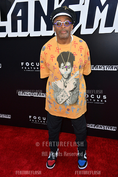"Spike Lee at the Los Angeles premiere of ""BlacKkKlansman"" at the Academy's Samuel Goldwyn Theatre, Beverly Hills, USA 08 Aug. 2018<br /> Picture: Paul Smith/Featureflash/SilverHub 0208 004 5359 sales@silverhubmedia.com"