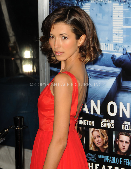 WWW.ACEPIXS.COM . . . . .  ....January 23 2012, LA....Actress India de Beaufort arriving at the premiere of  'Man On A Ledge' at Grauman's Chinese Theatre on January 23, 2012 in Hollywood, California.....Please byline: PETER WEST - ACE PICTURES.... *** ***..Ace Pictures, Inc:  ..Philip Vaughan (212) 243-8787 or (646) 679 0430..e-mail: info@acepixs.com..web: http://www.acepixs.com