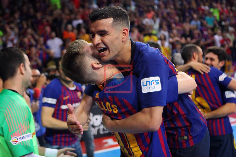 League LNFS 2018/2019.<br /> Play Off. Game: 5.<br /> FC Barcelona Lassa vs El Pozo Murcia: 3-2.<br /> Rivillos & Esquerdinha.
