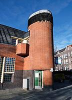 Nederland Amsterdam - Januari 2019. Museum het Schip in de Zaanstraat, gebouwd in Amsterdamse School stijl. Dit museum was vroeger een postkantoor, ontworpen door Michel de Klerk .   Foto Berlinda van Dam / Hollandse hoogte