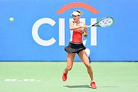 Washington, DC - August 3, 2019: Anna Kalinskaya (RUS) returns a serve from Jessica Pegula (USA) during the Citi Open WTA Singles Semi Finals at Rock Creek Tennis Center, in Washington D.C. (Photo by Philip Peters/Media Images International)