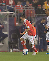 SL Benfica midfielder Ruben Amorim (5) at midfield. SL Benfica  defeated New England Revolution, 4-0, at Gillette Stadium on May 19, 2010.