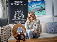 Margaret River, Western Australia    (Tuesday, April 10, 2018) Stephanie Gilmore (AUS) six times World Champion - The Margaret River Pro, Stop No. 3 on the World Surf League (WSL) Championship Tour (CT) is only one day away.<br /> Surfers, politicians and dignitaries attended a press session this morning at the contest site to kick off this year's event. Current ratings leaders Italo Ferreira (BRA) and Stephanie Gilmore (AUS), current World Champion John John Florence (HAW) and WA Minister for Tourism Paul Papalia were in attendance. Photo: joliphotos.com
