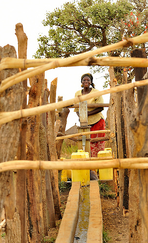 New bore holes provide communities with drinking water in Northern Uganda.  The bore holes are a component of U.S. AID and Winrock's  $30 million NUDEIL to help revitalize the impoverished, war-torn region.