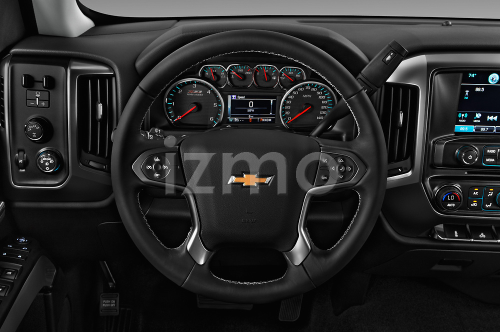 Car pictures of steering wheel view of a 2018 Chevrolet Silverado-1500 LT-Z71-Crew 4 Door Pick-up Steering Wheel