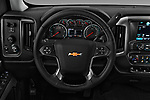 Car pictures of steering wheel view of a 2018 Chevrolet Silverado-1500 LT-Z71-Crew 4 Door Pick-up Steering Wheel
