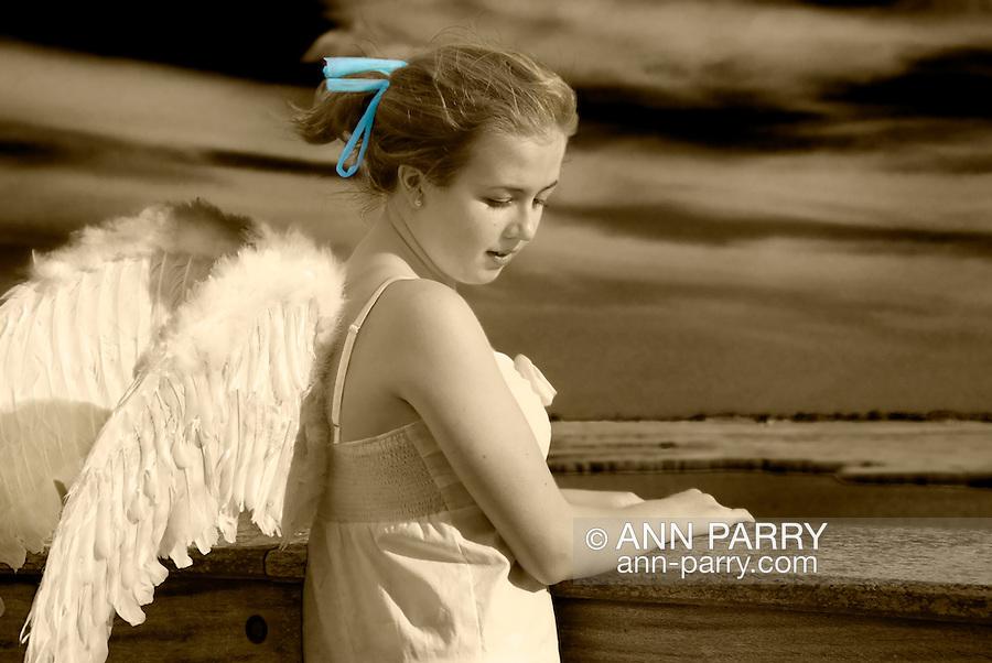 Angel at Pier in Long Island, New York. (MR)