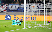 10th March 2020, Red Bull Arena, Leipzig, Germany; EUFA Champions League, RB Leipzig v Tottenham Hotspur;  Goalkeeper Hugo Lloris Tottenham Hotspur beaten by the 1st goal for Leipzig