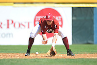Temple University Owls infielder Derek Parerson (22) during practice before a game against the University of Louisville Cardinals at Campbell's Field on May 10, 2014 in Camden, New Jersey. Temple defeated Louisville 4-2.  (Tomasso DeRosa/ Four Seam Images)