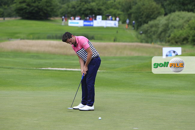 Mike Lorenzo-Vera (FRA) on the 8th green during Round 4 of the 2016 BMW International Open at the Golf Club Gut Laerchenhof in Pulheim, Germany on Sunday 26/06/16.<br /> Picture: Thos Caffrey | Golffile