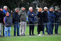 Fans watch the 2019 Wellington premier 2 men's Hardham Cup rugby final between Old Boys University and Marist St Pat's at Petone Rec in Wellington, New Zealand on Saturday, 27 July 2019. Photo: Dave Lintott / lintottphoto.co.nz