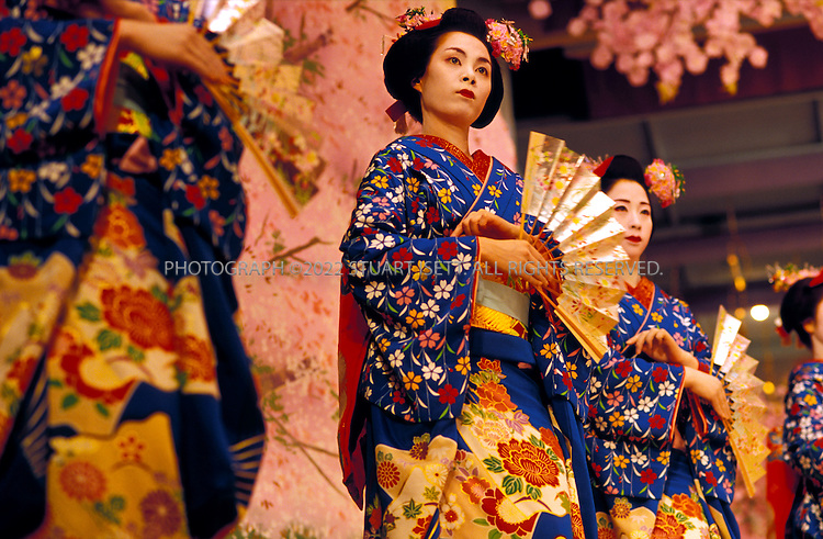 Kyoto, Japan..Geisha perform at the annual Spring Festival in Kyoto's Gion District...All photographs ©2003 Stuart Isett.All rights reserved.