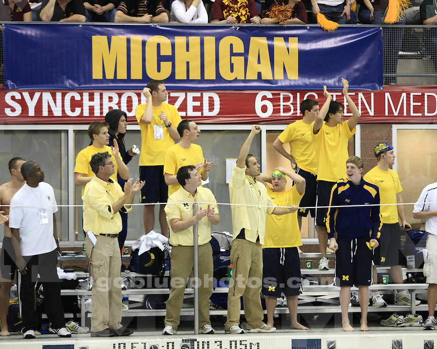 University of Michigan at men's Big Ten Swimming & Diving Championships held at the Ohio State University on February 26th, 2010. Courtney Beyer.
