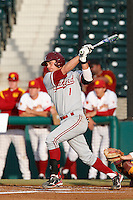 Alex Blandino #1 of the Stanford Cardinal bats against the USC Trojans at Dedeaux Field on April 5, 2013 in Los Angeles, California. (Larry Goren/Four Seam Images)