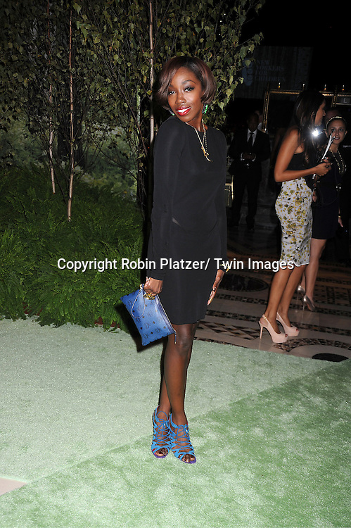 singer Estelle attends the New Yorkers for Children 2012 Fall Gala to benefit youth in foster care on September 18, 2012 at Cipriani 42nd Street in New York City.