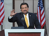 Denver, CO - August 28, 2008 -- Governor Bill Richardson of New Mexico speaks on day 4 of the 2008 Democratic National Convention at INVESCO Field at Mile High Stadium in Denver, Colorado on Thursday, August 28, 2008..Credit: Ron Sachs - CNP.(RESTRICTION: NO New York or New Jersey Newspapers or newspapers within a 75 mile radius of New York City)