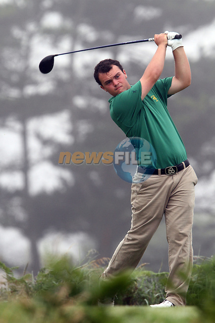 Jordan Hood (IRL) on the 11th tee on the Final Day at the 2012 Boys Home Internationals at Co.Louth Golf Club in Baltray, Co.Louth...(Photo credit should read Jenny Matthews/NEWSFILE)...