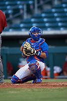 AZL Cubs 2 catcher Orian Nunez (18) during an Arizona League game against the AZL Dbacks on June 25, 2019 at Sloan Park in Mesa, Arizona. AZL Cubs 2 defeated the AZL Dbacks 4-0. (Zachary Lucy/Four Seam Images)